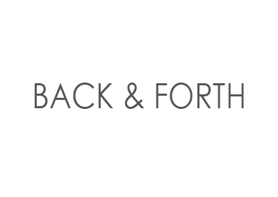 F-R8/F-R10 | BACK & FORTH