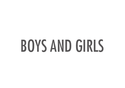 F-40 | BOYS  AND GIRLS